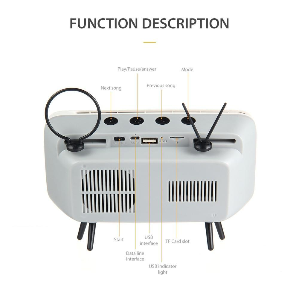 Retro TV Style Wireless Bluetooth Speaker