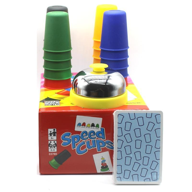 Speed Cups Game Family Board Game 2-4 Players Stacking Set