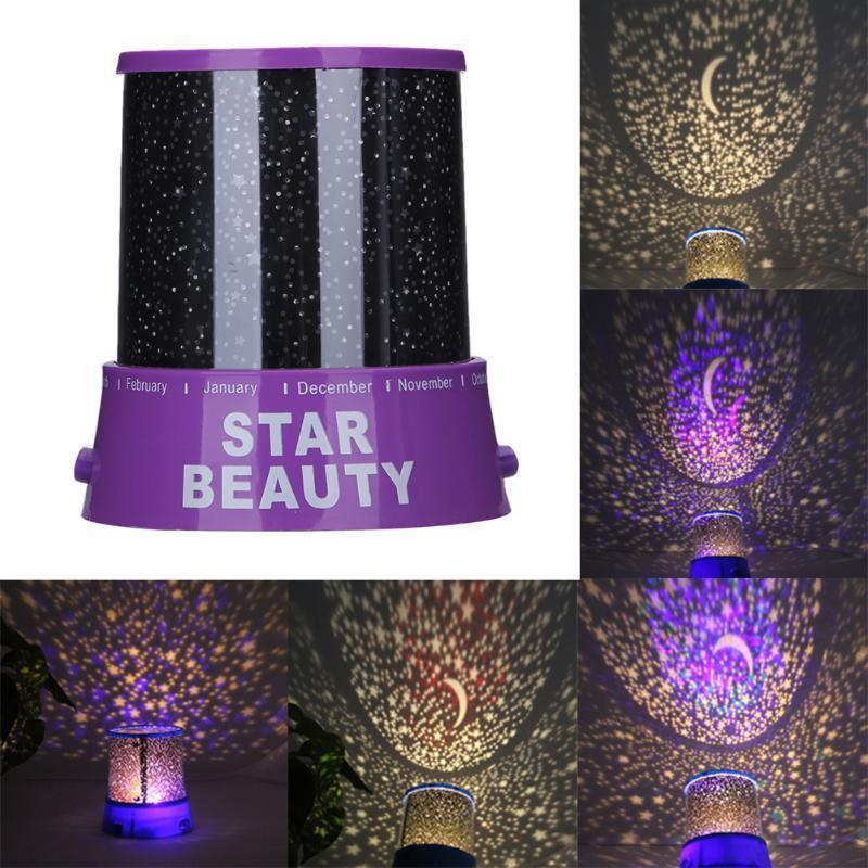 Colorful Stars Night Projector