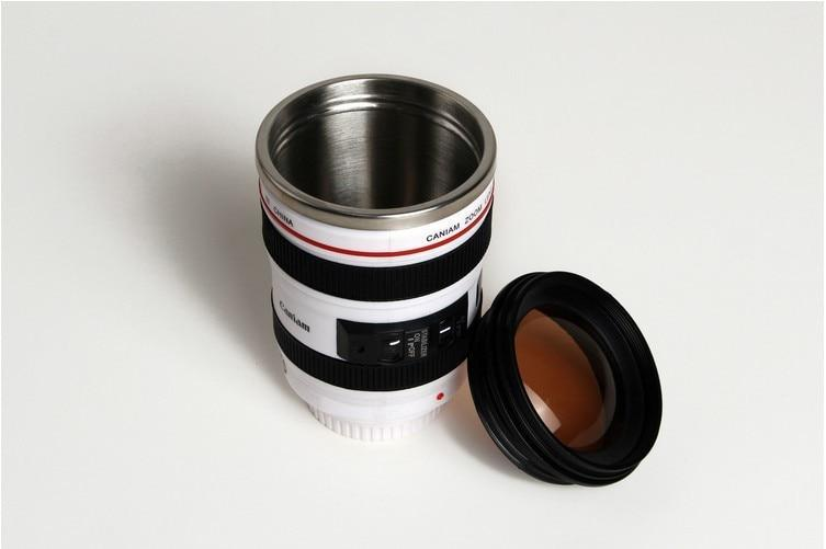 Camera Lens Coffee Travel Thermos Mug