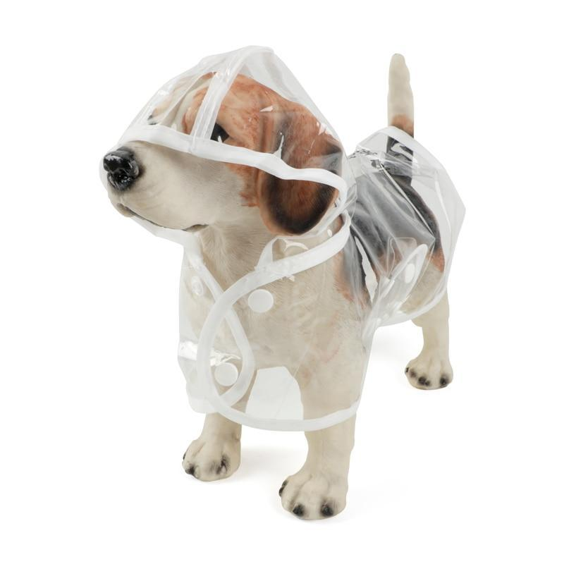 Transparent Dog Raincoat With Hood