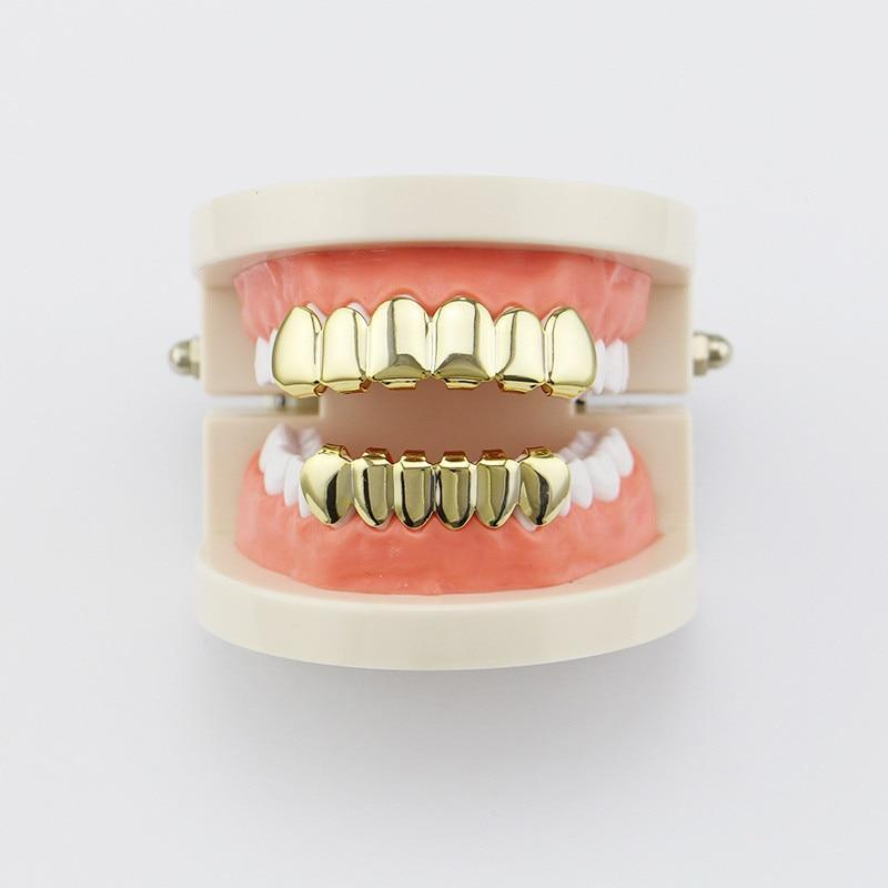 Gold Teeth Grillz - Top & Bottom