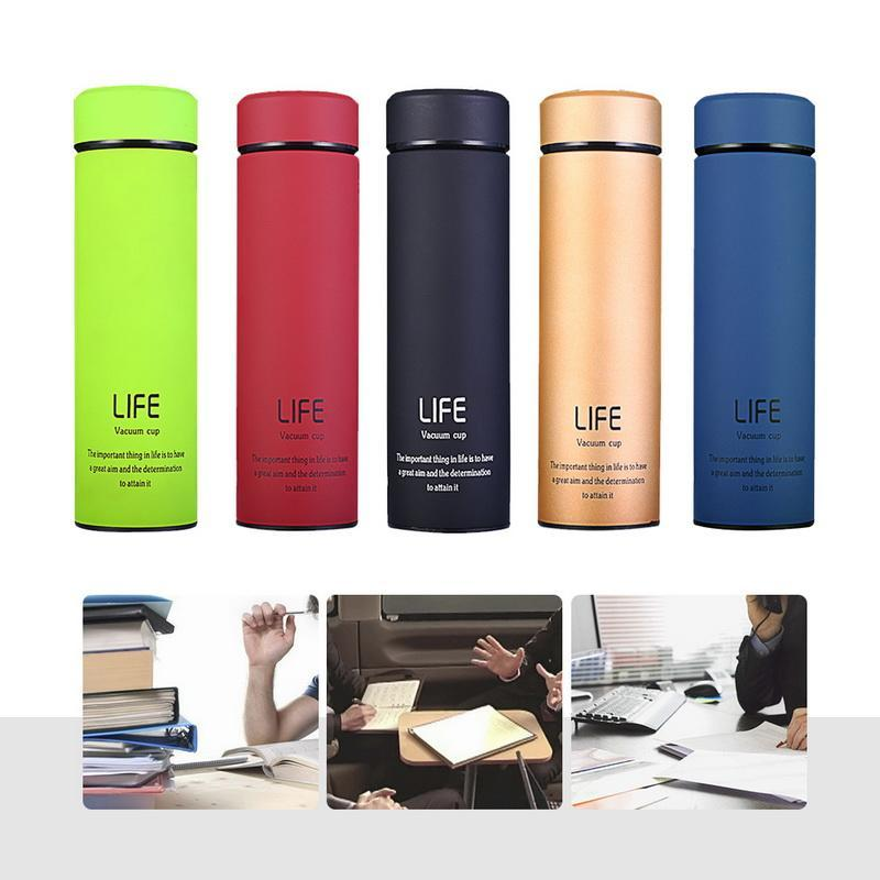 Stainless Steel Portable Vacuum Flask Insulated Thermo Sports Water Bottle
