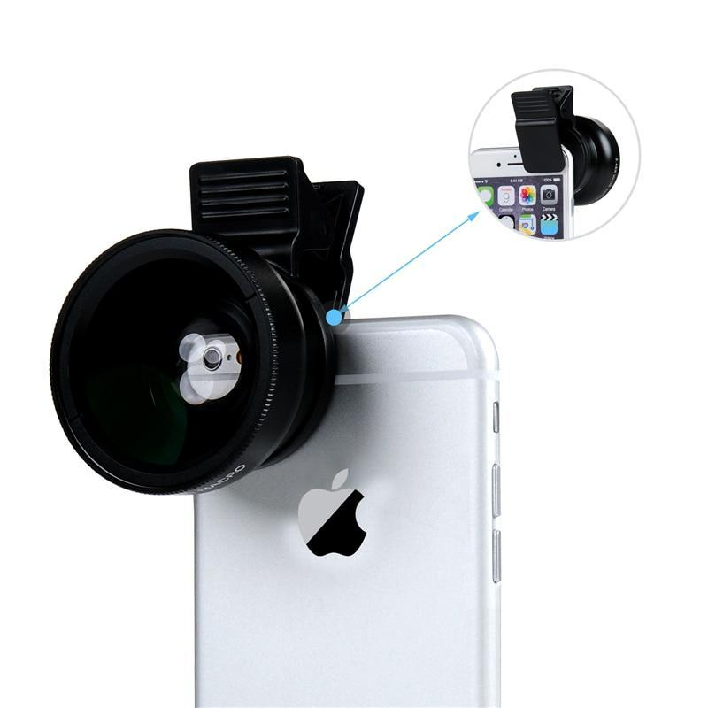 Professional HD Phone Camera Lenses 0.45X Wide Angle 12.5X Macro Lens For iphone