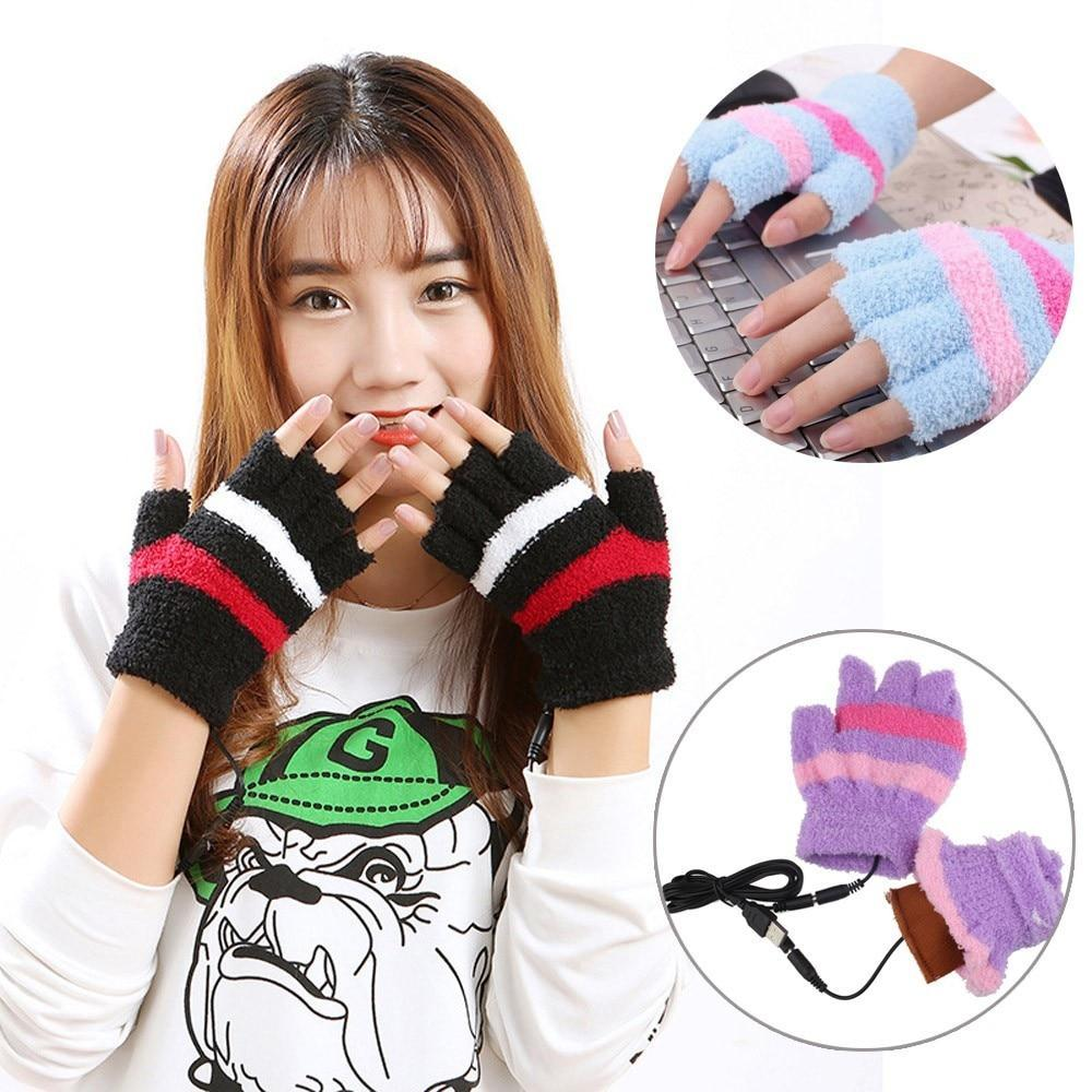 USB Heating Winter Hand Warm Gloves