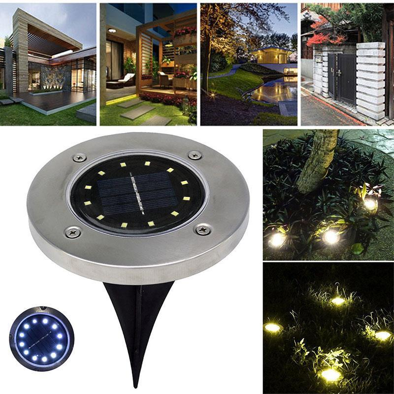 Solar Powered LED Disk Light