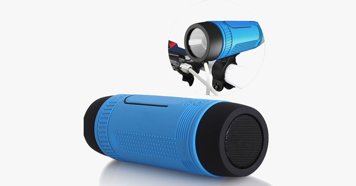 Waterproof Bluetooth Speaker for Bike with LED Light – Take Your Favorite Music Everywhere!
