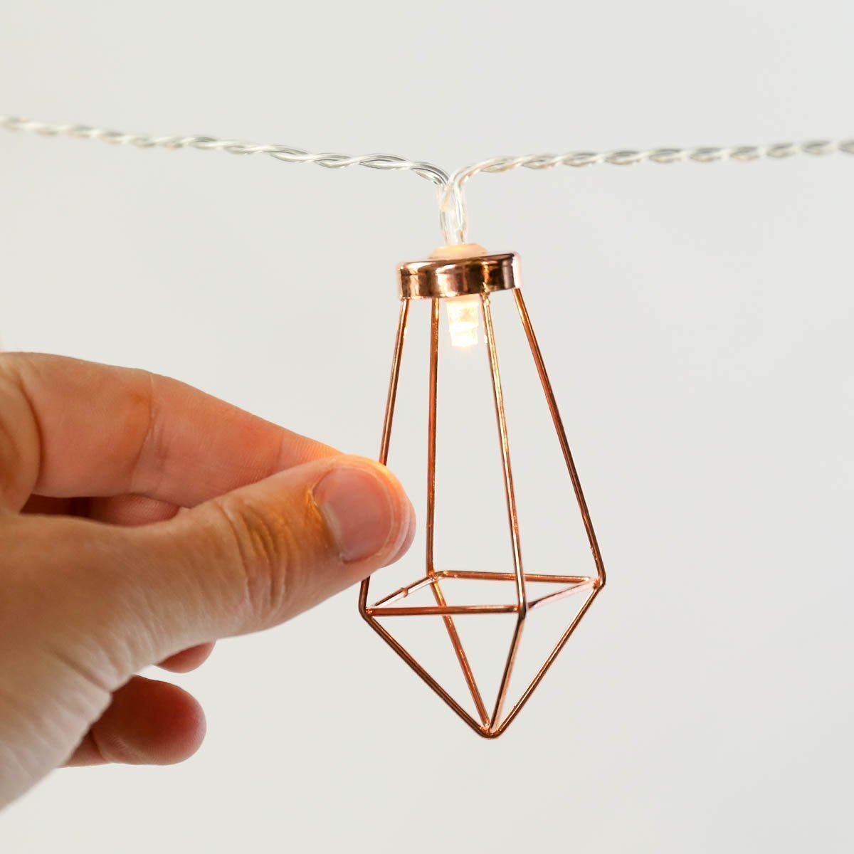 Craft Rose Gold Lantern Light