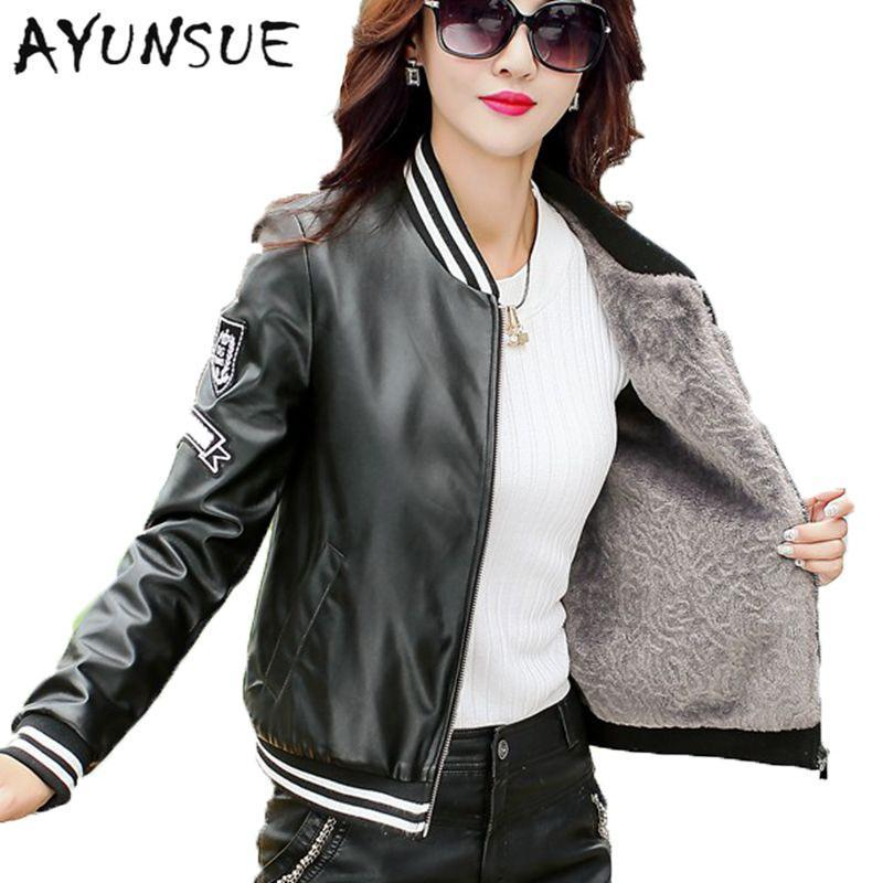 Motocycle Jacket Faux Sheepskin Coat