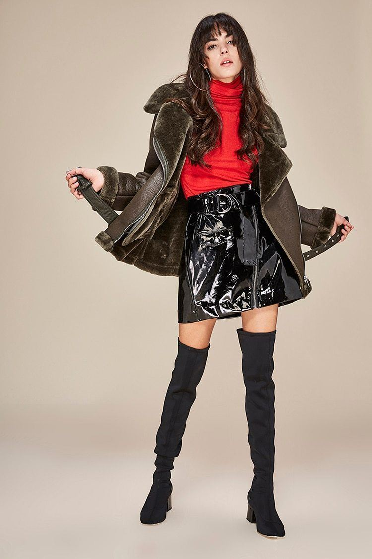 Street Fashion Women's PU leather jacket