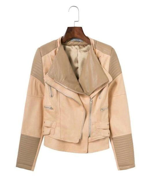 2018 PU + Suede Faux Leather Jackets