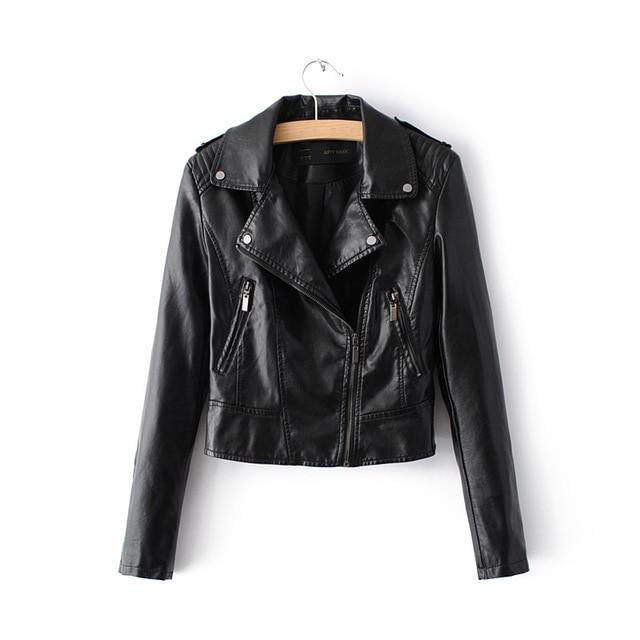 2018 Motorcycle Faux Soft Leather Jackets