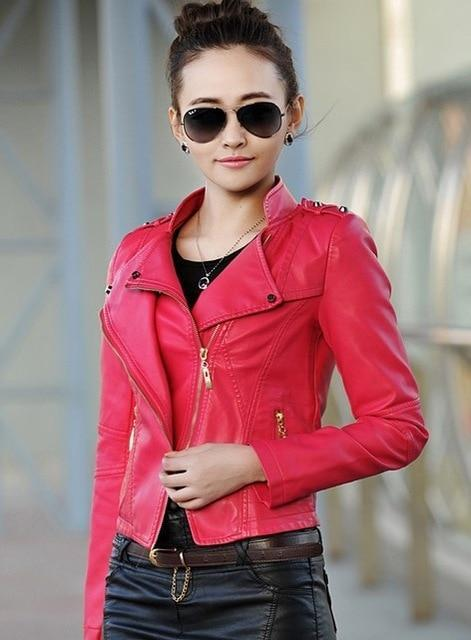 Orwindny Fashion Women Leather Jacket 2018