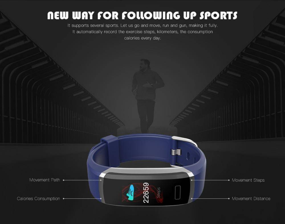 Fitness Tracker With Heart Rate Monitor - Waterproof Smart Wristband With Color Screen