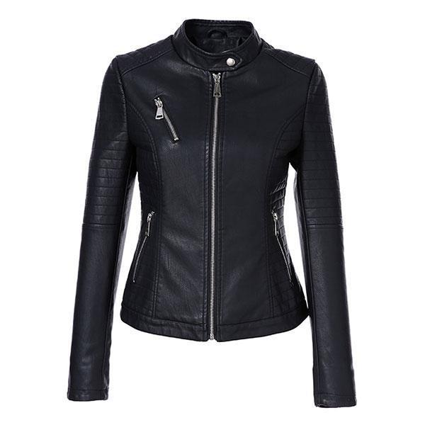 AORRYVLA 2018 New Autumn Women's Leather Jackets