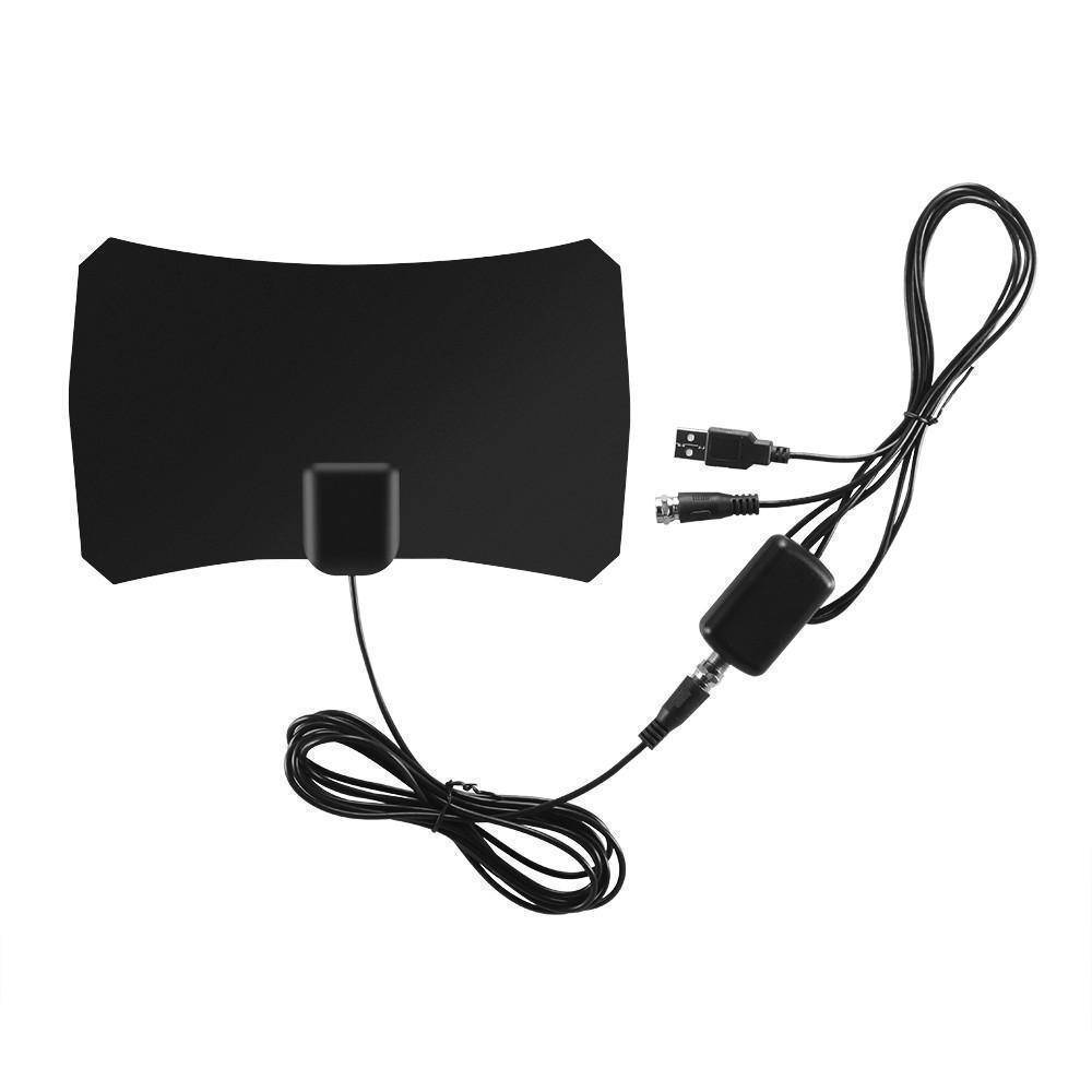 Digital TV Antenna Indoor 1080P 50 Mile Range HDTV Antenna with USB Powered Amplifier