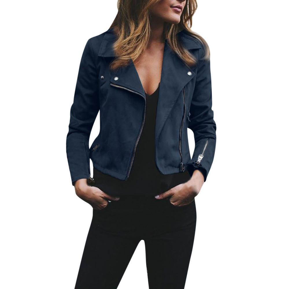 Women Casual Bomber Outwear Jacket