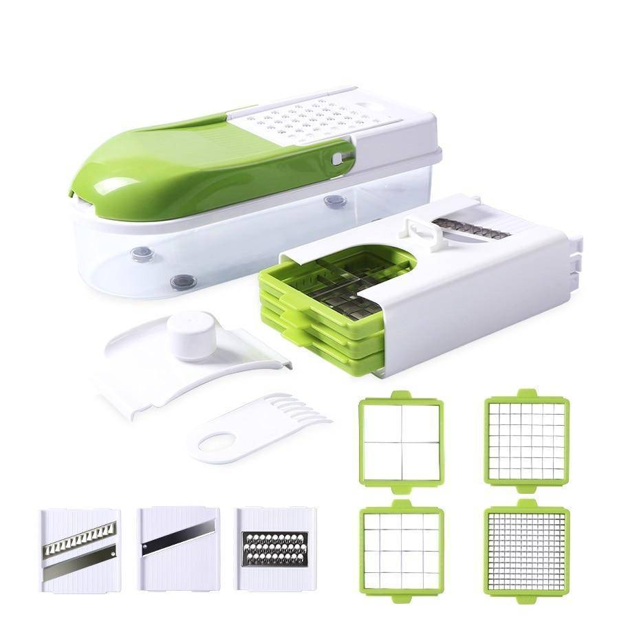 Multifunction Vegetable Slicer with 8 Dicing Blades