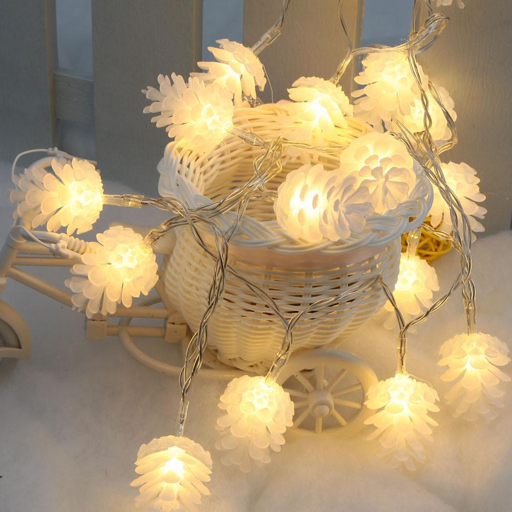 Home Decor LED Warm Pinecone Lamp