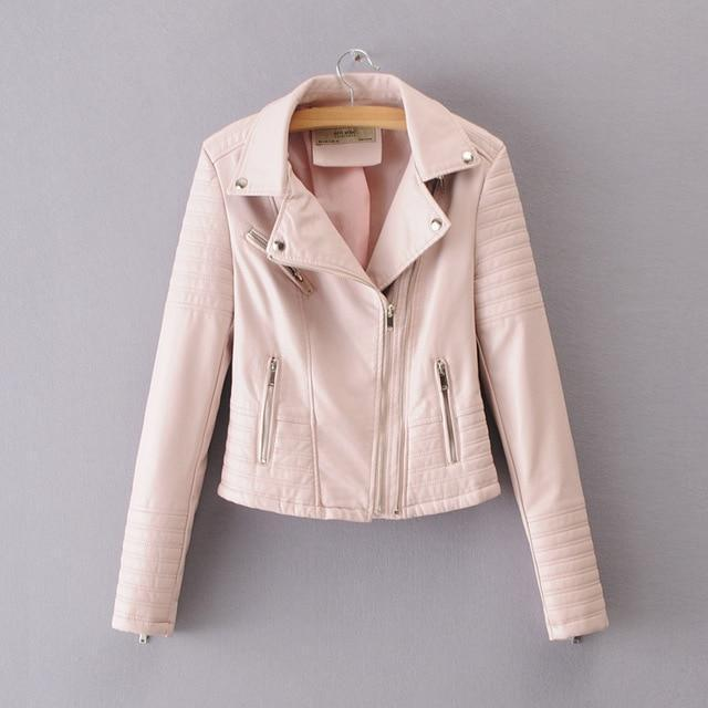 Smooth Motorcycle Faux Leather Jackets