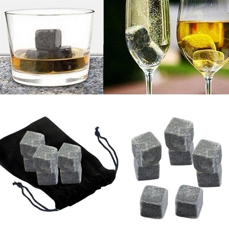 Whisky Ice Stones With Velvet Pouch