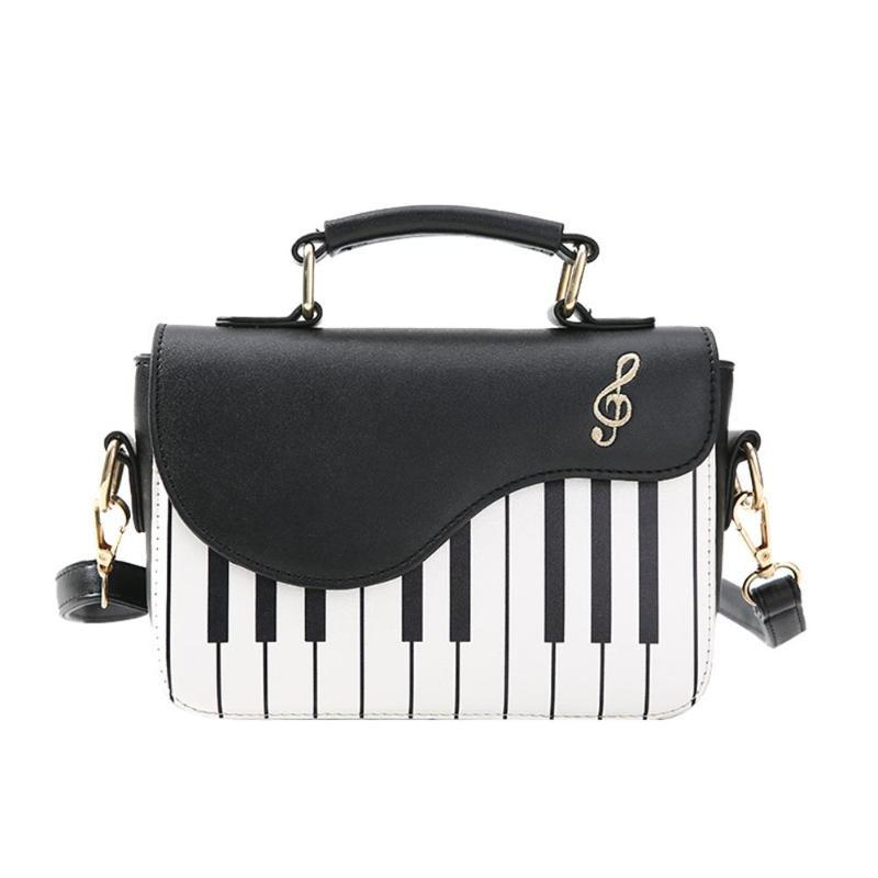 The Piano Music Notes Purse - Casual Shoulder Leather Handbag