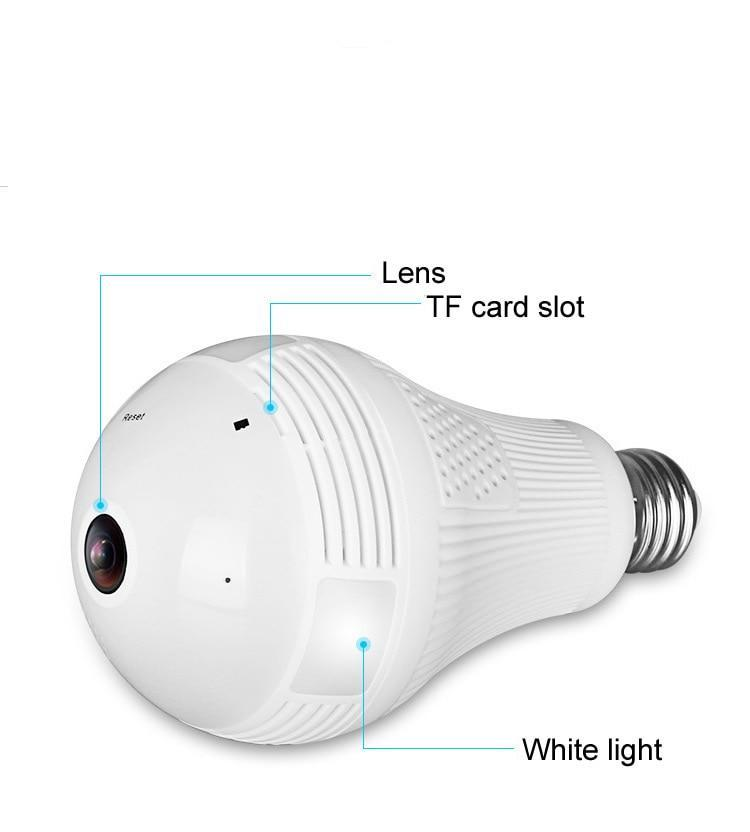 360 Degree Video Camera Panorama Bulb With Hotspot Wireless WiFi