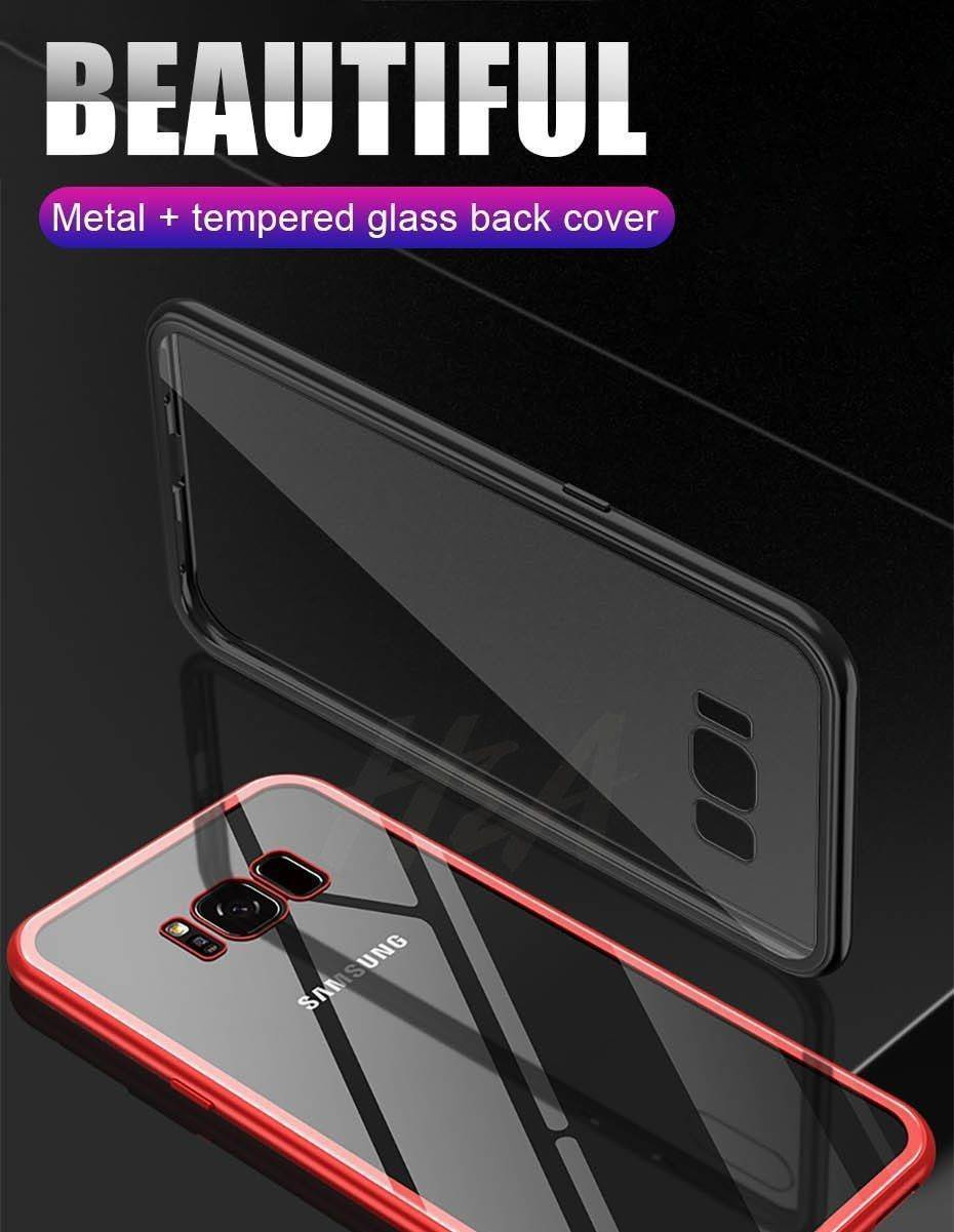 2019 New Magnetic Absorption Glass Cover Case for Samsung Galaxy S9 S8 Plus S7 Edge Note 9 8