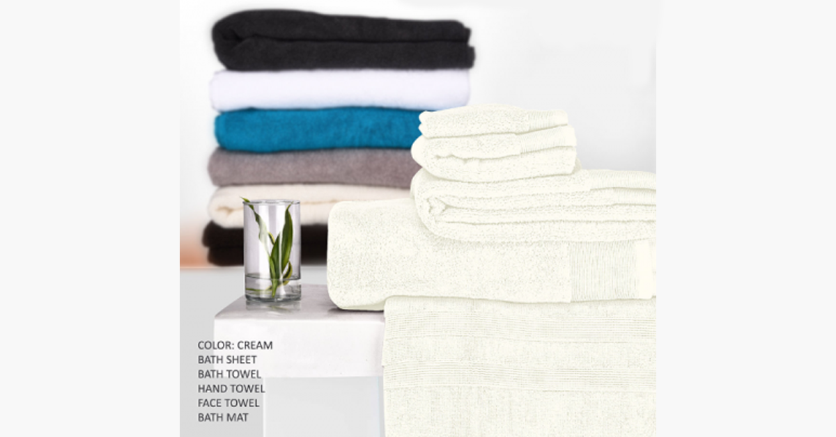 Ultra Soft 5 Piece Towel Set