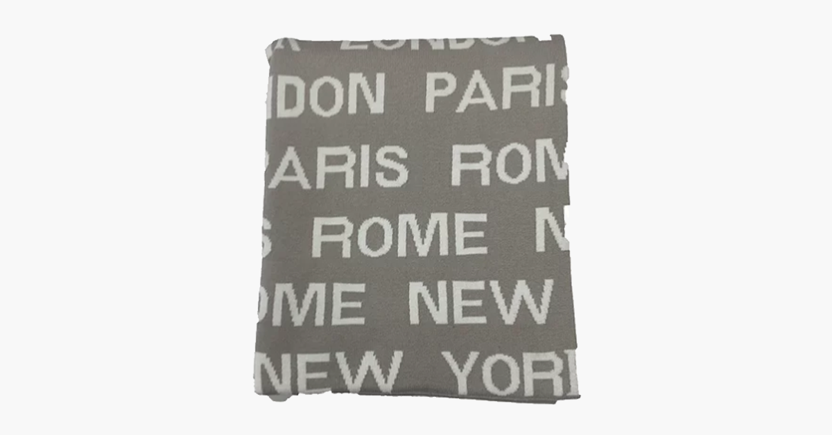 Travel The World Throw Blanket and Cushion Set