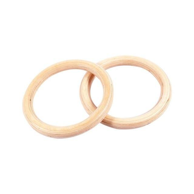 2pcs Wooden Gymnastics Birch Ring