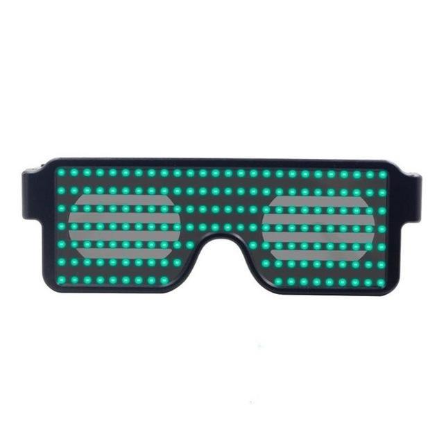Flash Rechargeable Luminous LED Light Glasses