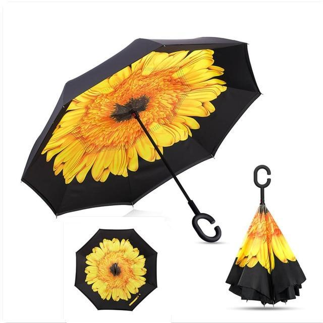 Windproof Reverse Folding Inverted Umbrella
