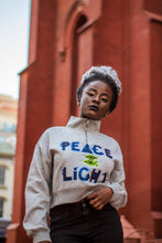 Affirmation  Peace & Light Crop top sweater hoodie(Zipper collar)