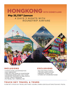 4 Days 3 Nights - Round Trip Hong Kong with Disneyland Tour