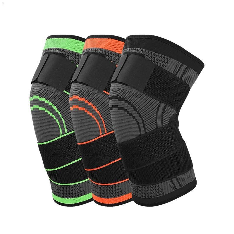 e63d0d2e57 Load image into Gallery viewer, 3D weave pressurization knee brace  basketball tennis hiking cycling knee ...