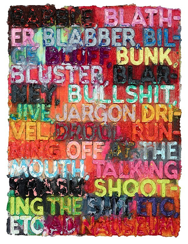 Mel Bochner, 'Babble', 2014 - The Provocateur Gallery
