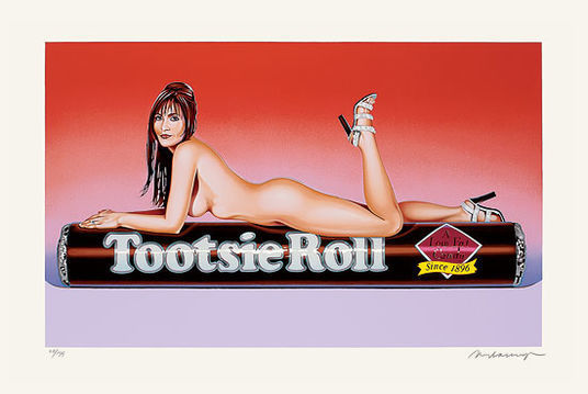 Mel Ramos, 'Tootsie Roll', 2007 - The Provocateur Gallery