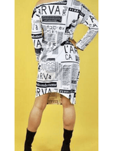 Load image into Gallery viewer, Magazine Midi Dress