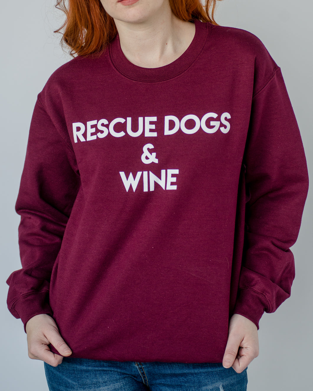 Rescue Dogs & Wine Sweatshirt