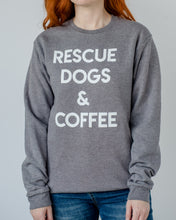 Load image into Gallery viewer, Rescue Dogs & Coffee Sweatshirt