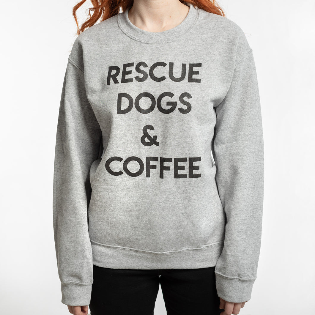 Rescue Dogs & Coffee Sweatshirt - old design