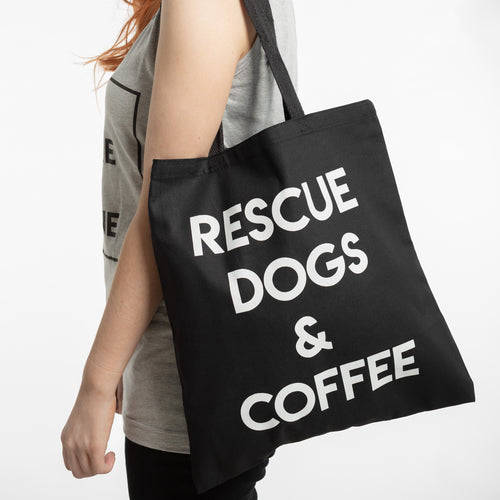 Rescue Dogs & Coffee Tote Bag