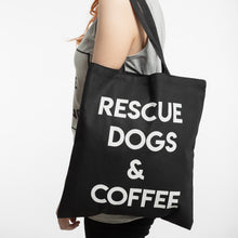 Load image into Gallery viewer, Rescue Dogs & Coffee Tote Bag