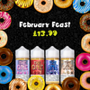 February Feast - Delicious Donut flavours for just £13.99 this month!