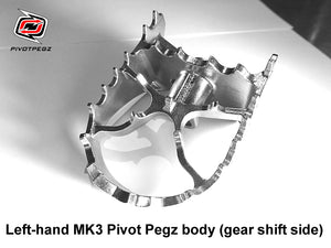 One new Left-Hand MK3 Pivot Pegz body