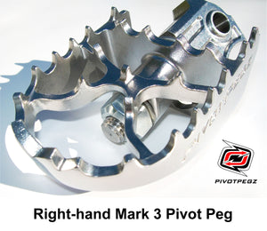 One new RIGHT-HAND Mark 3 Pivot Peg