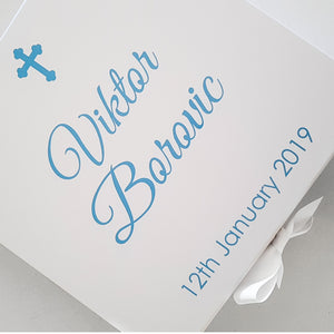 Christening Day Personalised Large Box.