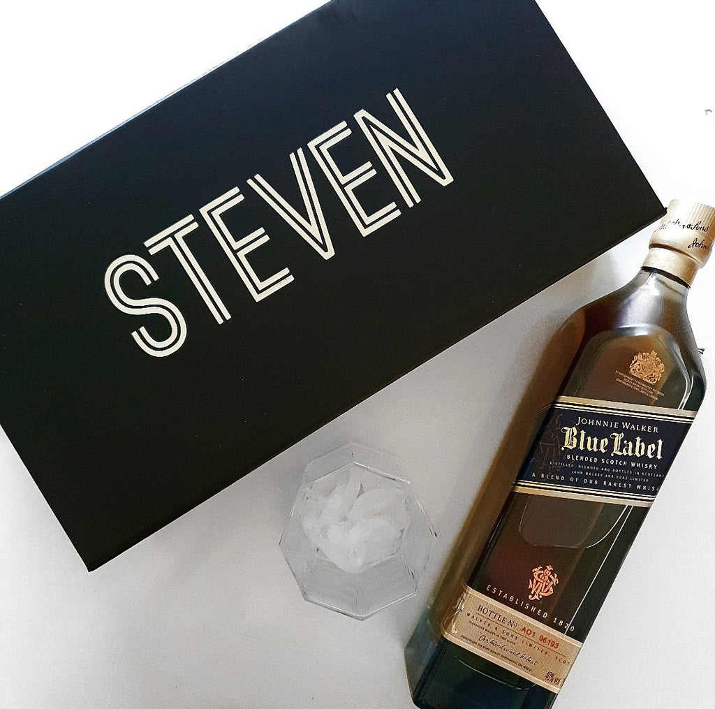 Personalised 'Name' Spirit bottle Box