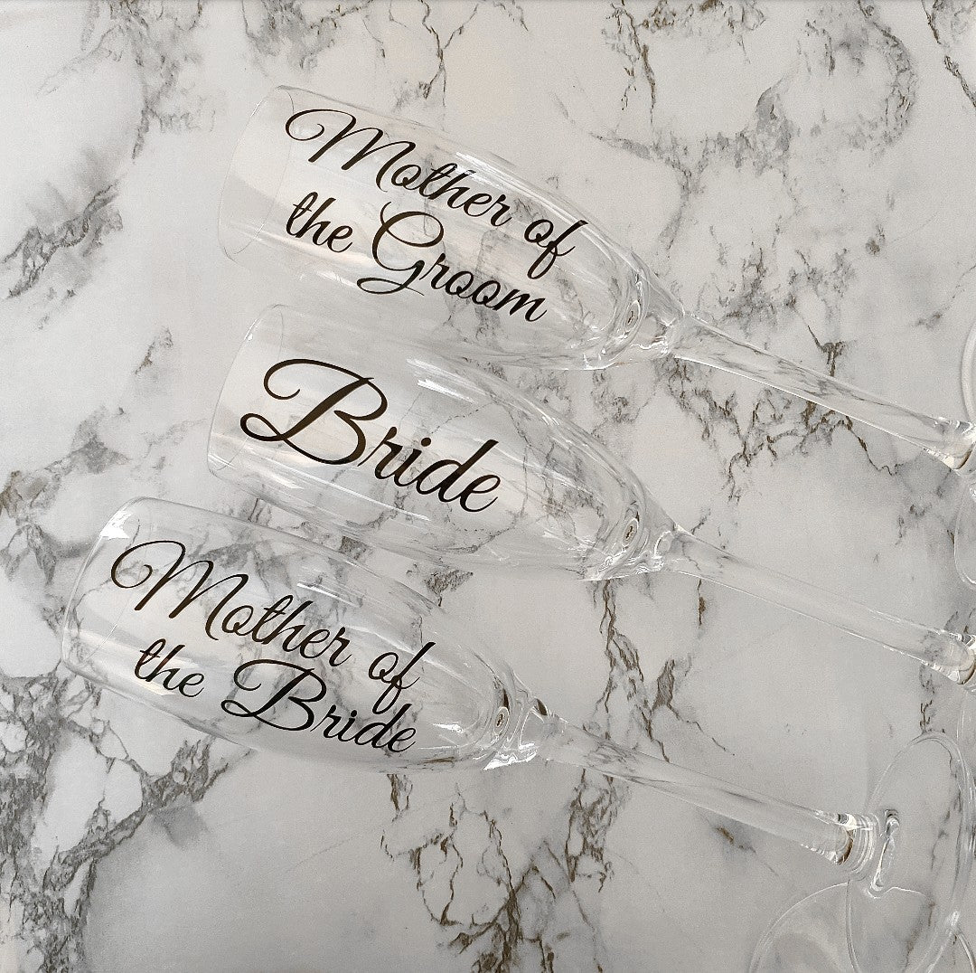 Champagne 'Name' Glasses, perfect Bridesmaid gift
